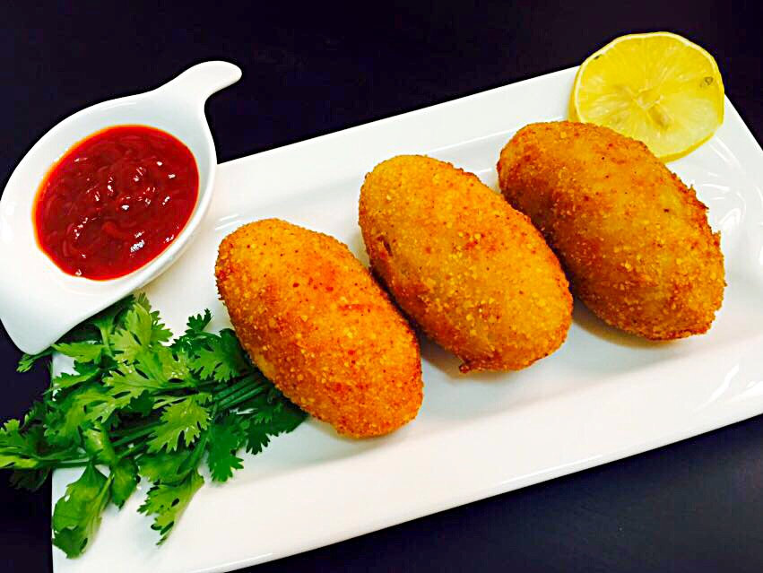 Potato and meat croquettes