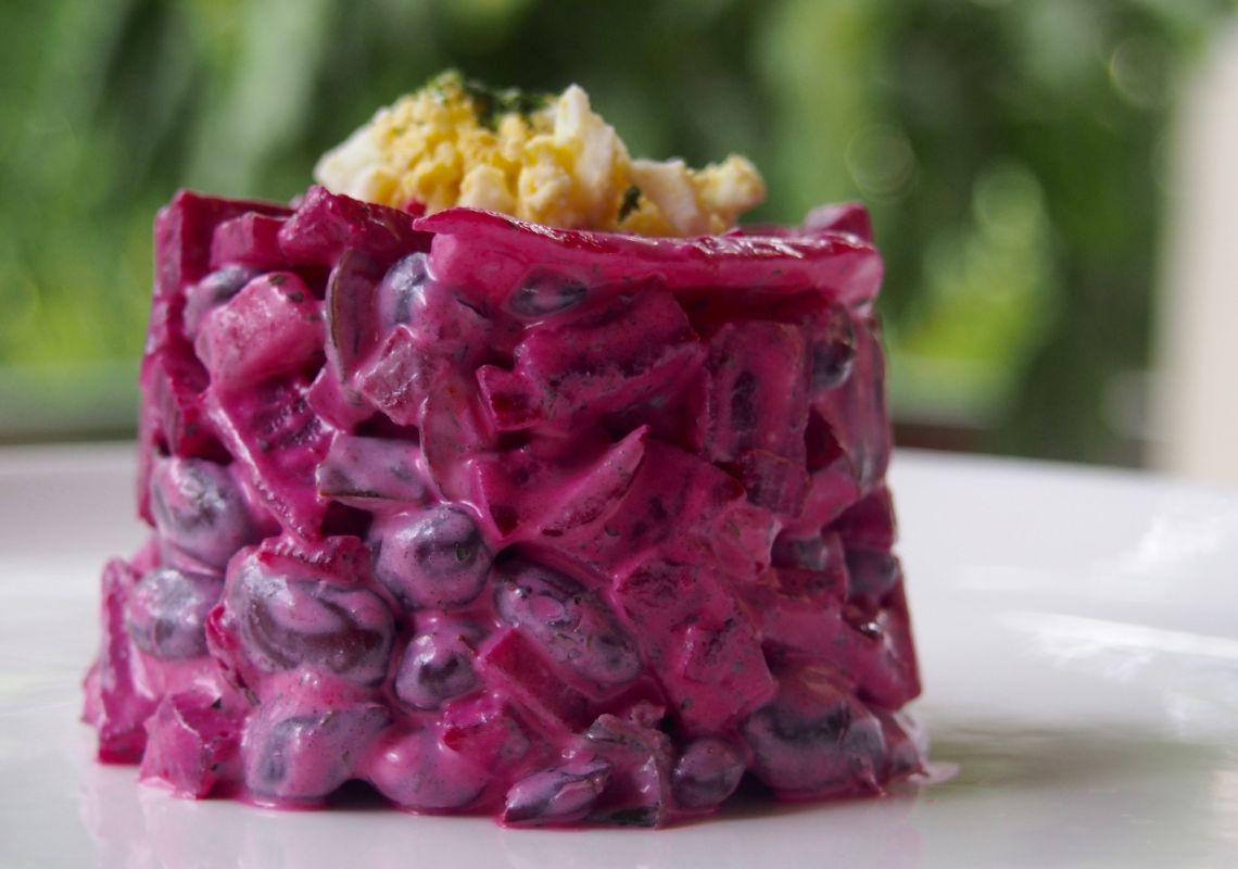 Beetroot and Bean Salad