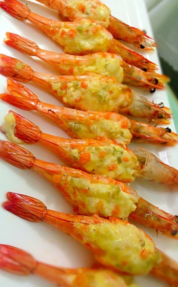 Easy Stuffed Prawns