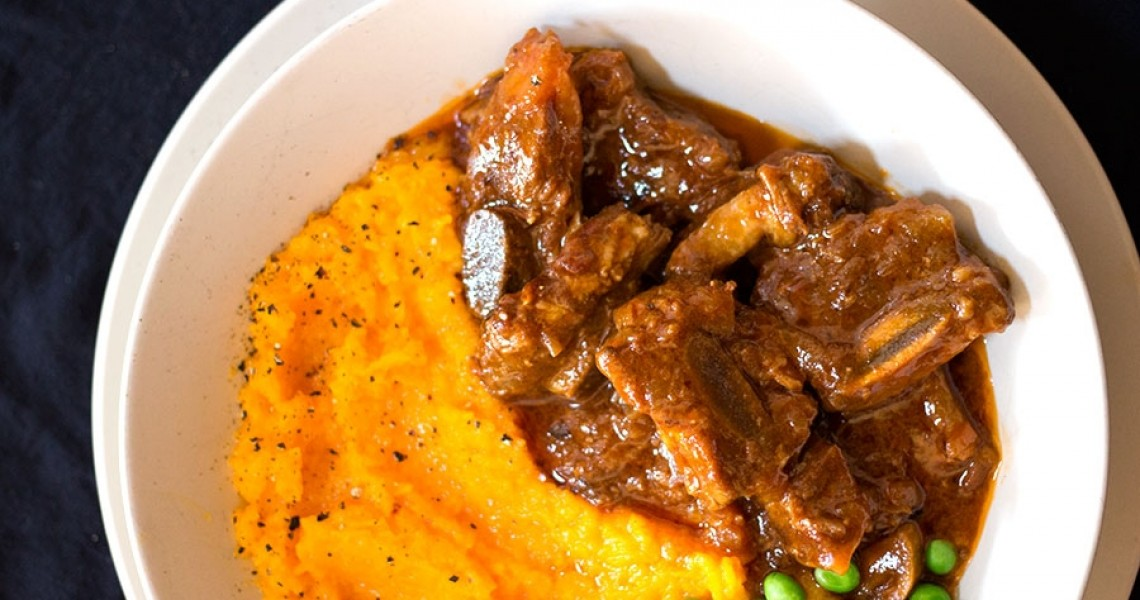 Sticky Beef Short Rib with Butternut Mash