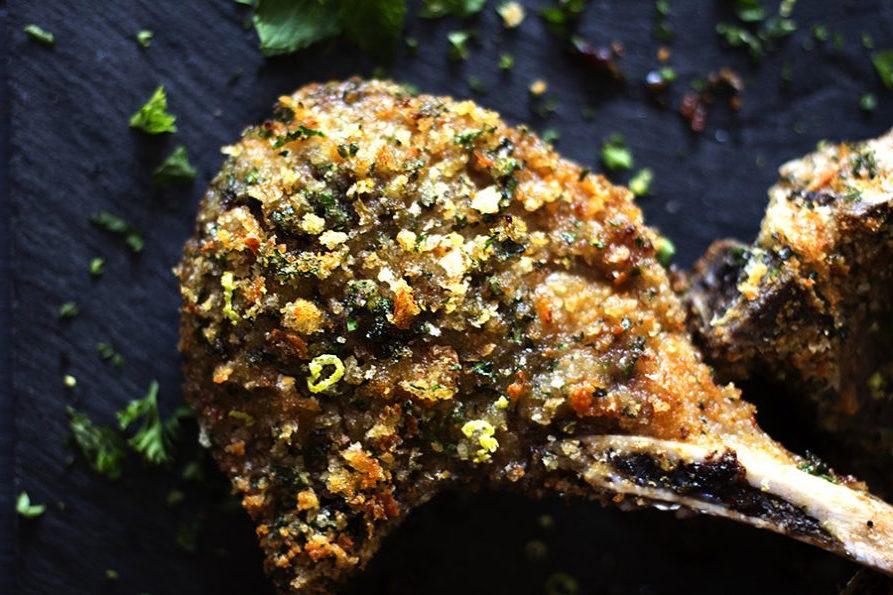Herb and Lemon Crusted Lamb Chops