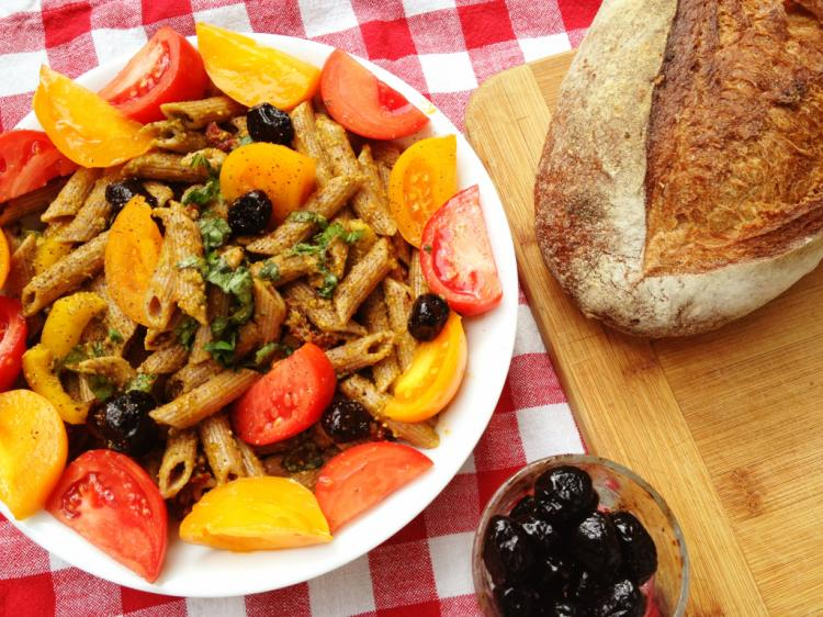 Pasta Salad with Spelt Penne & Tomatoes