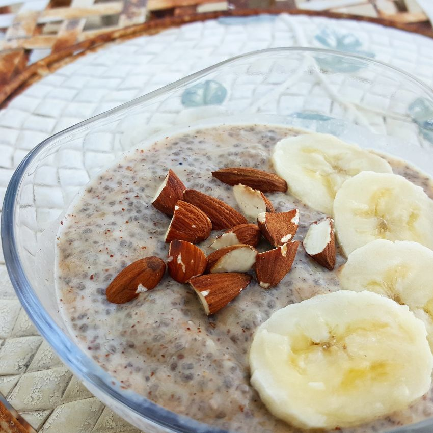Almond and Banana Chia Pudding
