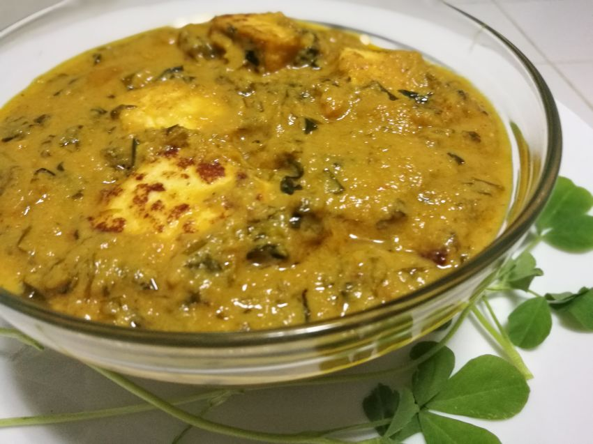 Methi Paneer(Fenugreek leaf with cottage cheese)