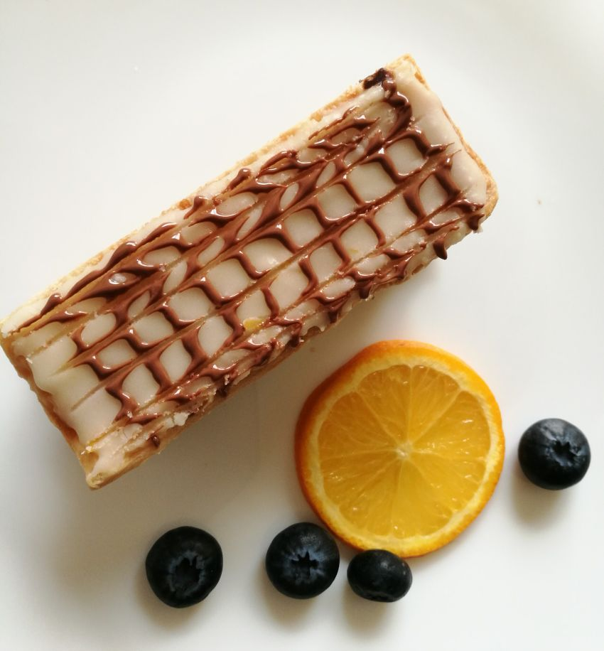 Blueberry -Orange Mille Feuille