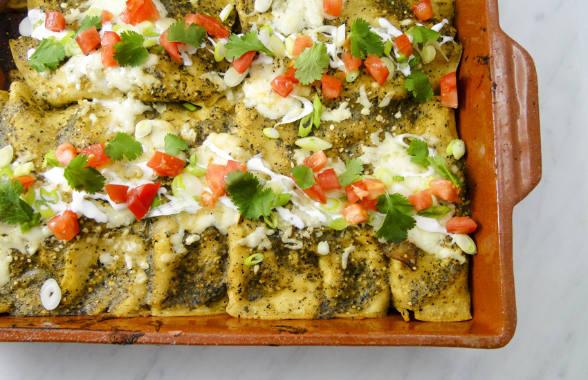 Chicken And Tomatillo Enchiladas