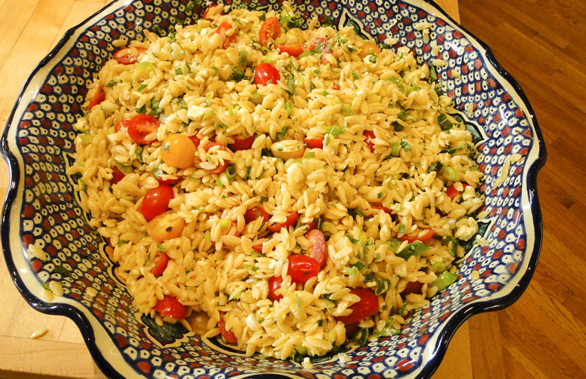 Orzo Salad with Tomatoes & Feta
