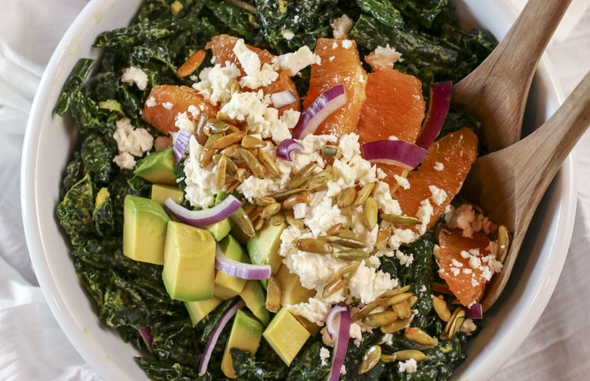 Avocado Massaged Kale Salad