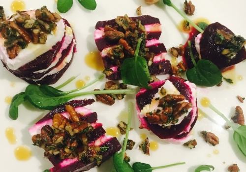 Beet & Goat Cheese Layered Salad
