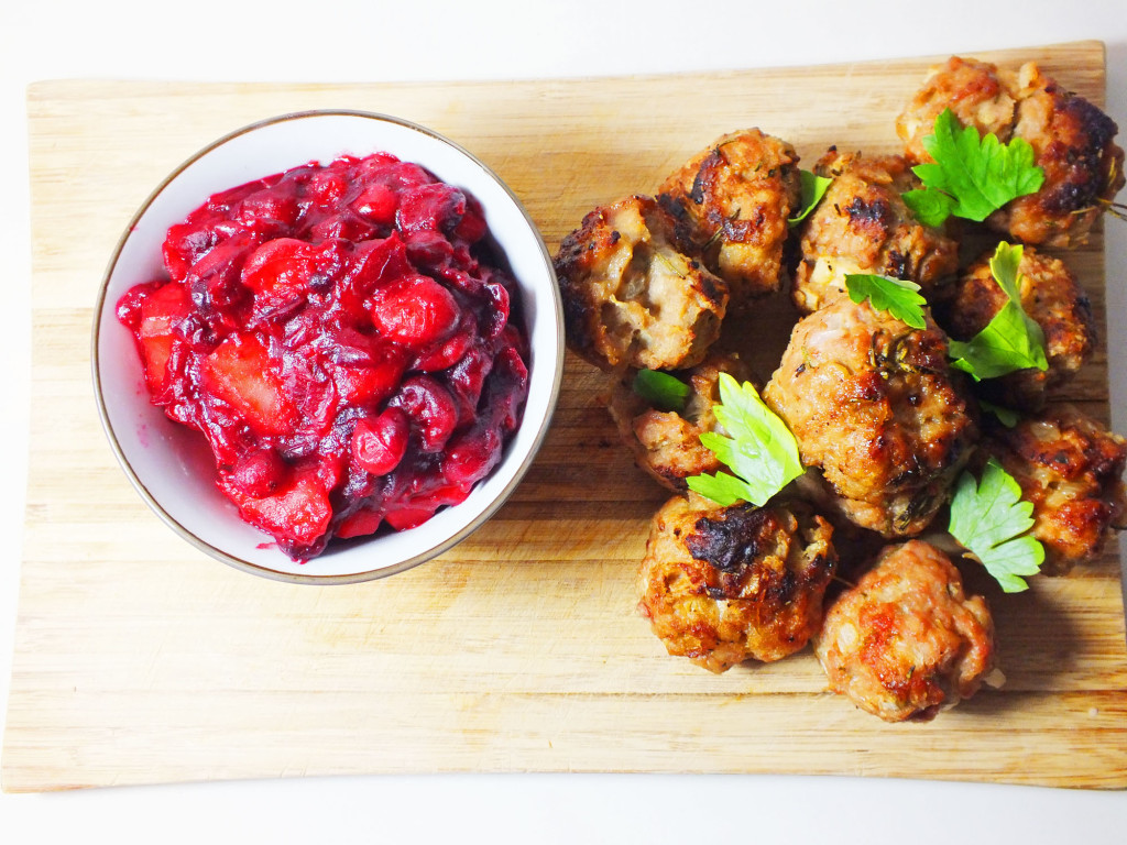 Pork Stuffing and Cranberry Sauce