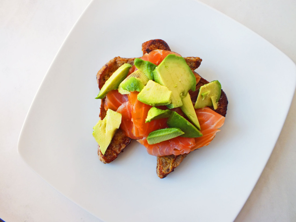 French Toast with Smoked Salmon and Avocado