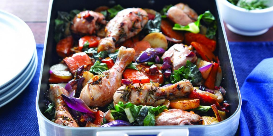 Garlic & Rosemary Chicken Tray Bake